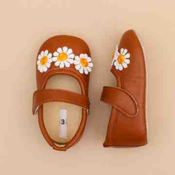 Daisy Brown Baby Shoes