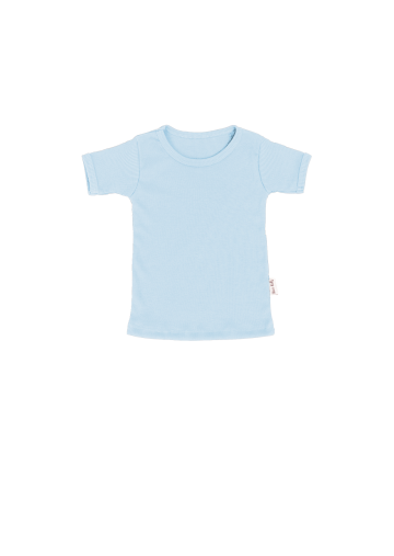 Rib Tee Light Blue