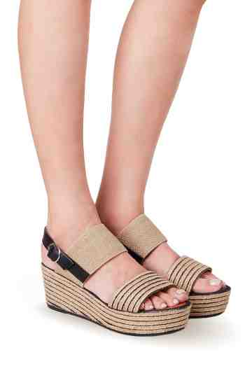 6cm Wedge Two Straps Wedge Espadrilles