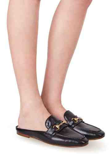 Horsebit Nappa Leather Mules