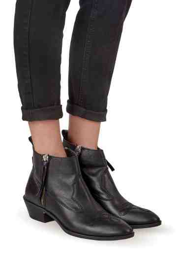 Cowboy Double Zip Ankle Boots