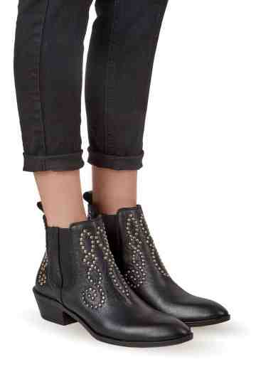 Cowboy Chelsea Studded Ankle Boots