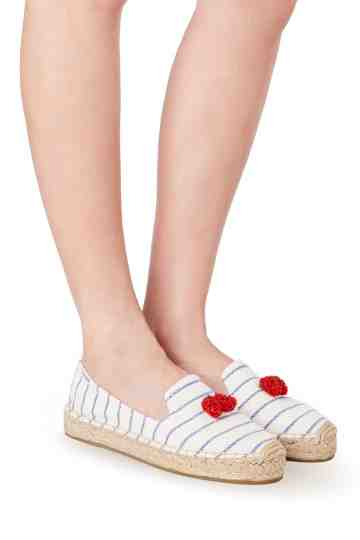 """Strawberry"" Stripes Platform Smoking Slippers"
