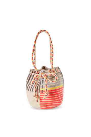 """Tiara M"" Crossbody Bag Orange & Grey"