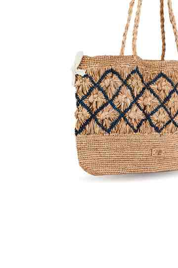 """Diaosa"" Crochet Tote Bag With Embroidered Pattern"