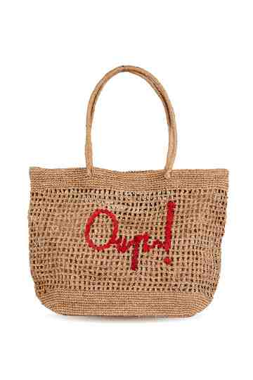 """Blabla"" Oup! Crochet Tote Bag With Embroidered Message"