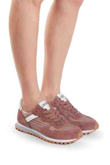 """Wonder"" Rose Brown Nylon Suede Sneakers"
