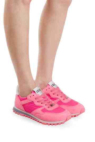 """Wonder"" Fuxia Nylon Fluo Sneakers"