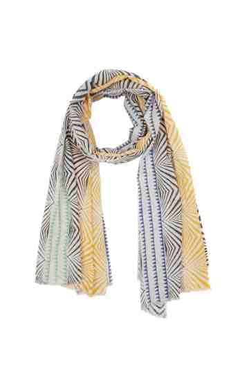 Multicolor Scarf With Symmetrical Pattern