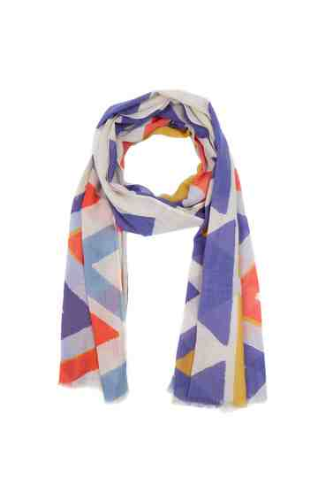 Multicolor Scarf With Geometrical Pattern