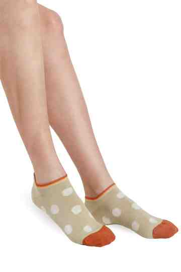 Ankle Socks Sage Polka Dot