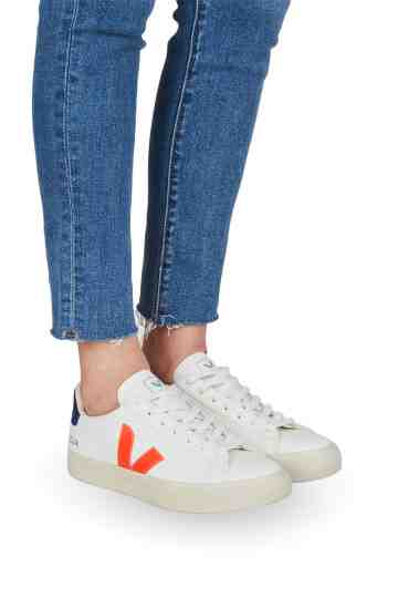 Campo White Orange Fluo Cobalt Chromefree Leather Sneakers