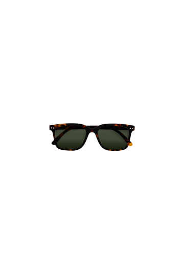 L Sun Tortoise Green Lenses Sunglasses