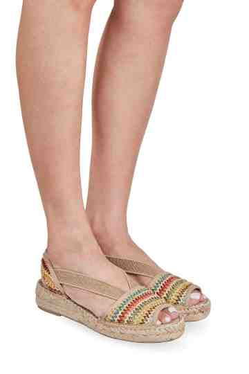 """Estel Multi"" 4cm Multi Color Wedge Espadrilles"