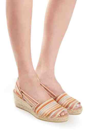 """Tibet-MD"" 6 Cm Glitter Stripes Wedge Espadrilles"
