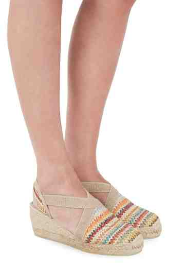 """Terra Multi"" 6cm Multi Color Wedge Espadrilles"