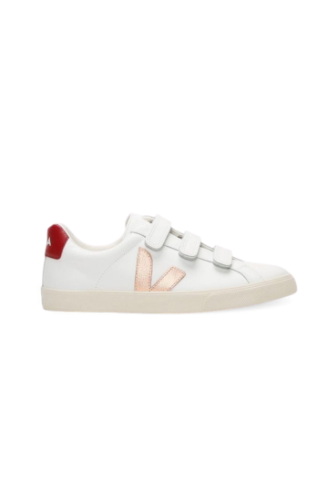 3-Lock White Venus Marsala Leather Sneakers