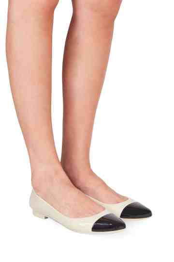 """Ameri"" Duotone Pointed Toe Jelly Flats"
