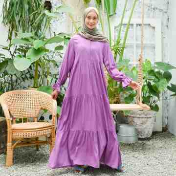 Ivy Dress Plain PURPLE