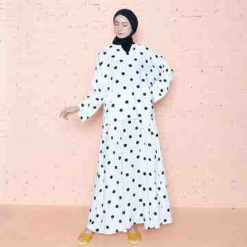 Yuna Set WHITE POLKA