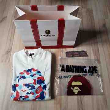 Bape Big Ape Head Crewneck Paris Camo