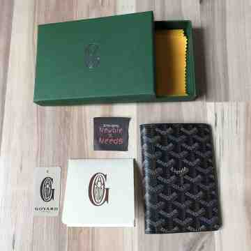 Goyard Passport Holder Brown