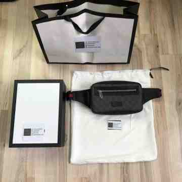 Gucci GG Black Waist Bag / Belt Bag