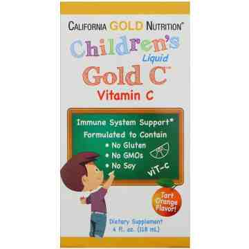 (Pre-Order) California Gold Nutrition Children's Liquid Gold Vitamin C 118ml