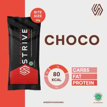 STRIVE BITE SIZE CHOCO 1 BOX ISI 5 PCS