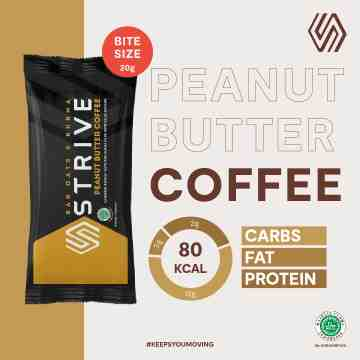 STRIVE BITE SIZE PEANUT BUTTER COFFEE 1 BOX ISI 5 PCS