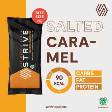 STRIVE BITE SIZE SALTED CARAMEL 1 BOX ISI 5 PCS