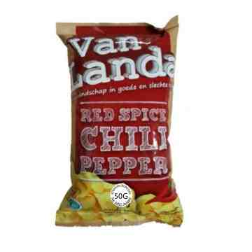 Van Landa RED SPICE CHILI PEPPER Potato Chips 50g image