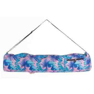 Yoga Bag Nice N Easy Blue Pink Leaves